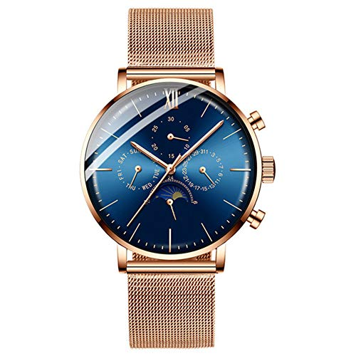 Herenhorloge, kwarts, analoog, waterdicht, chronograaf, datumweergave, cadeau voor heren