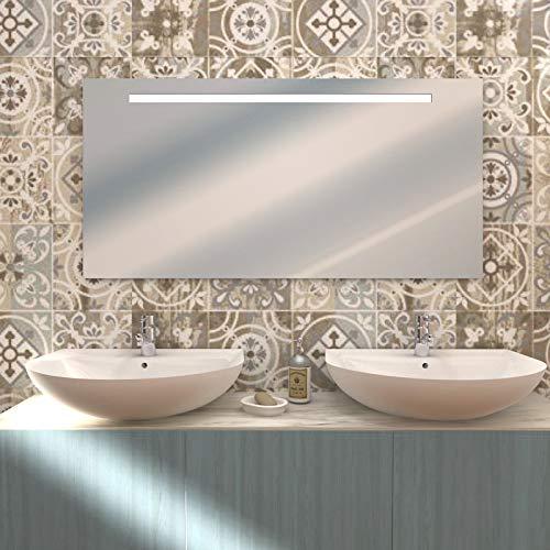 styleglassitalia Specchio Bagno ATENA retroilluminato cm 120x60
