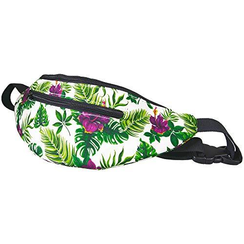 Pealu Gürteltasche Tropenpflanzen Cross Body Bag Fullprint Bauchtasche Umhängetasche