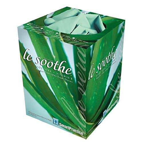 Smart Practice 43006N Le Soothe Latex Powder Free Exam Glove with Aloe Vera/Vitamin E, X-Small, 1' Height, 1' Wide, 1' Length, Borosilicate Glass, Jade (Pack of 1000)