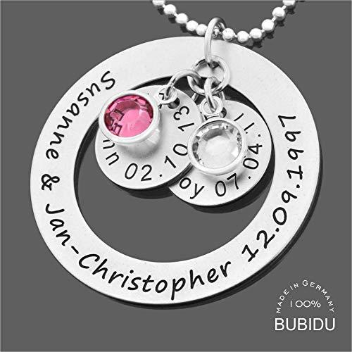 Namenskette 925 Silber mit Gravur Familienkette ❤️ Silberkette mit Namen ❤️ Schmuck mit Kindernamen ❤️ Schmuck für Mama Oma Silberschmuck Geschenk Muttertag | HANDMADE IN GERMANY