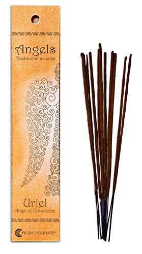 Fiore D 'Oriente Angeli incenso Uriel in Arancione imballaggio, bambù, Multicolore, Confezione da 10