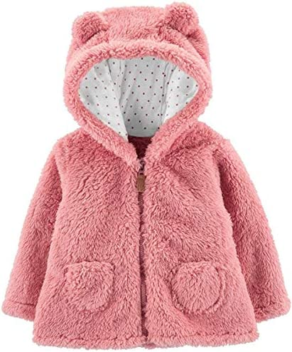 Carter s Zip Up Sherpa Cardigan Jacket Pink Sherpa 24 Months product image