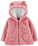 Carter's Zip-Up Sherpa Cardigan Jacket, Pink Sherpa, 12 Months