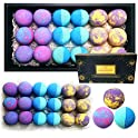 18-Count Rachelle Parker Essential Oil Healing Bath Bombs Gift Box