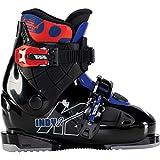K2 Indy-2 Botas de esquí, Niños, Negro, Azul y Rojo, Mondo: 22.5 (EU: 36 / UK: 3.5 / US: 4.5)