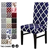 Cubierta para silla LiveGo, paquete de 4 cubiertas para silla de comedor elástica Silla con respaldo alto Funda protectora Funda protectora para...