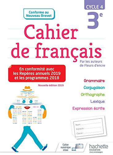 Cahier de français cycle 4 / 3e - éd. 2019