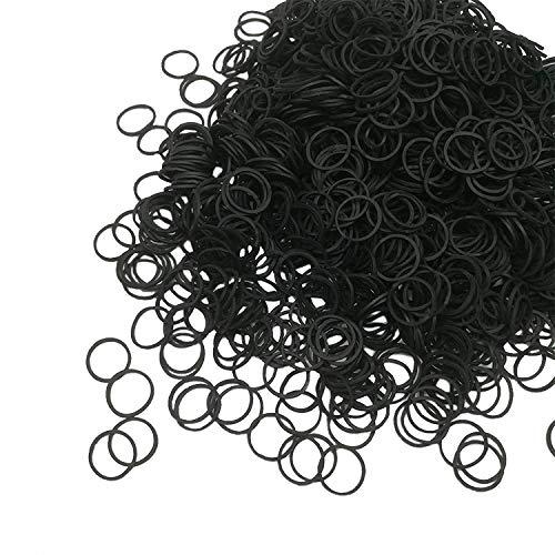500Pcs Black Elastic Hair Bands for women Elastic Hair Rubber Bands Small Hair Bands Soft Elastic Bands hair Ties Bands for Kids Hair Bands, Braids Hair, Wedding Hairsty Hair Bands