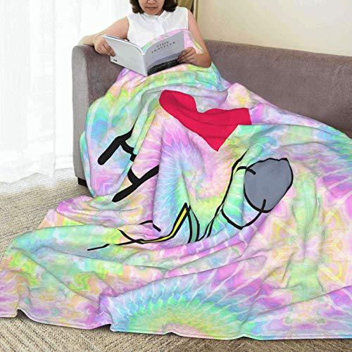 AORSTAR CNCO Manta de forro polar ultrasuave para cama, coche, camping, sofá, otoño, manta de felpa para adultos o niños