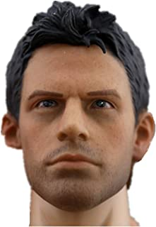 HiPlay 1/6 Scale Male Figure Head Sculpt Series, Handsome Men Tough Guy, Doll Head for 12