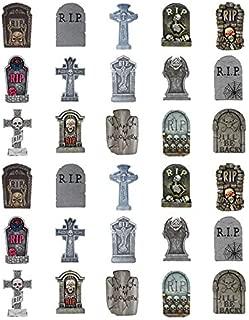 Halloween Assorted Tombstones Cupcake Toppers 1.5