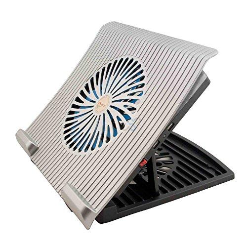 HF Laptop Cooling Pad 20102 kantoor koeler Cooler ventilator voor notebook zwart, CoolerPad 13 14 15 15,6 inch met USB HUB