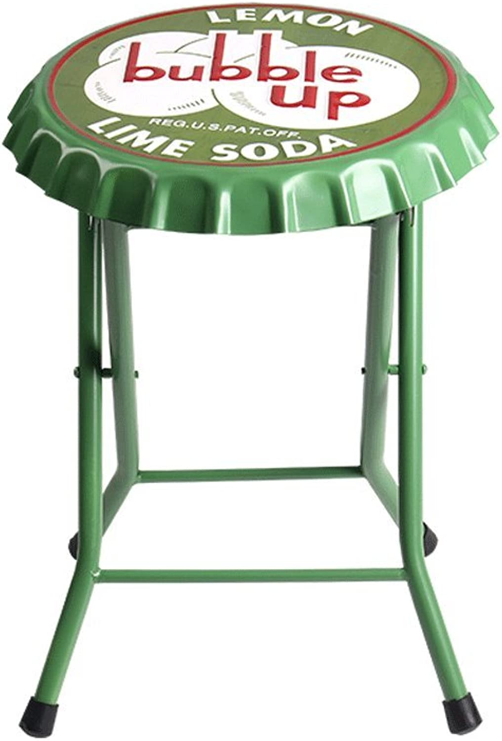 American Wrought Iron Bar Chair, Vintage Old Style Bar Stool, Simple Fashion Coffee Chair ( color   Green )