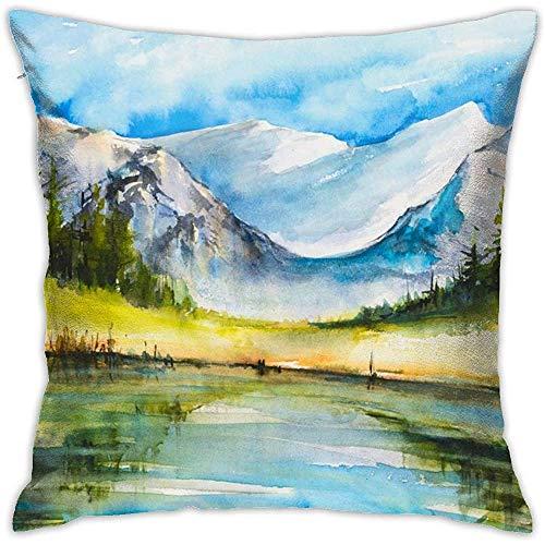 July Beauty Lake kussensloop met ritssluiting, voor sofa, slaapkamer, huis, party