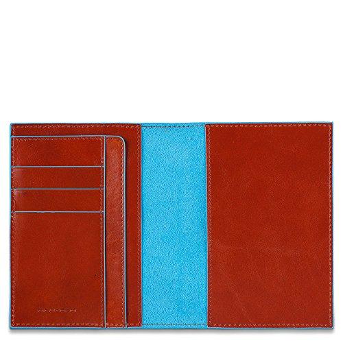 Piquadro PP1660B2 Passaporto, Collezione Blu Square, Mogano