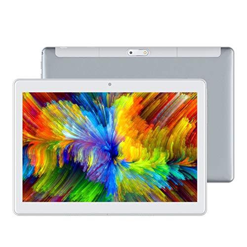 LORIEL Tablet PC De 10,1 Pulgadas, 2 GB + 64GB Memoria Android 10.0 Máquina De Aprendizaje De Ocho Núcleos, 1920 * 1200 Pantalla Grande/Tableta De Doble Altavoz, para El Hogar/Oficina /,Gris