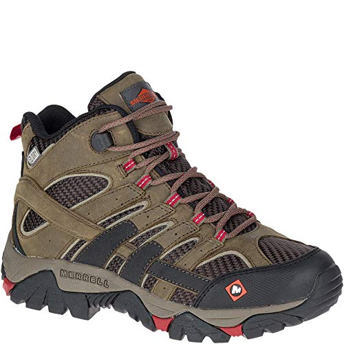 Merrell Moab 2 Ventilator Mid Waterproof Work Boot Women 9 Boulder