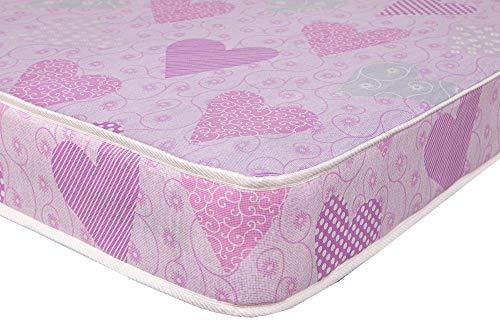 eXtreme Comfort Single Mattress - 6' Deep Ideal Kids Mattress, Bunk Bed, Cabin Bed Etc Mattress (3ft Single Mattress, Pink Heart)