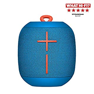 Ultimate Ears Wonderboom Portable Wireless Bluetooth Speaker, 360 ° Surround Sound, Waterproof, 2 Speaker Connection for Powerful Sound, 10h Battery, Blue color (B06WRT6Y5Z) | Amazon price tracker / tracking, Amazon price history charts, Amazon price watches, Amazon price drop alerts