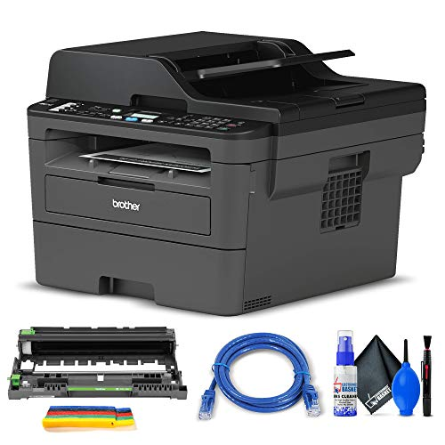 Brother MFC-L2710DW All-in-One Monochrome Laser Printer (MFC-L2710DW) + Network Cable + Deluxe Cleaning Set + Velcro Straps + More