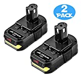 Forrat P102 2500mAh Replacement for Ryobi 18V Lithium Ion Battery P104 P105 P102 P103 P107 P108 for Ryobi 18-Volt ONE+ Plus Cordless Power Tool Battery - 2 Pack