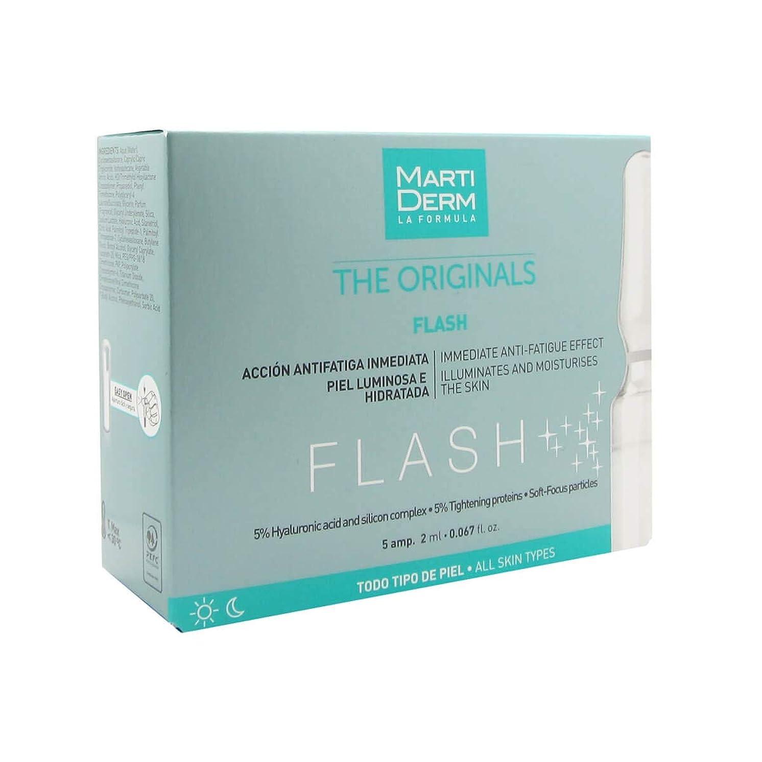 休憩する苦味泥沼Martiderm Flash Ampoules Anti-fatigue 5x2ml [並行輸入品]