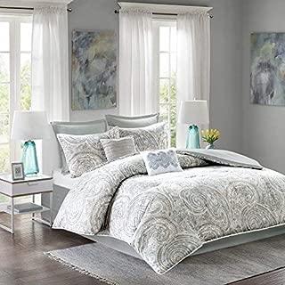 Comfort Spaces Kashmir 8 Piece Comforter Set Hypoallergenic Microfiber Lightweight All..