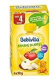 Bebivita Baby Quetschbeutel Banane in Apfel, 4er Pack ( 4 x 4 x 90 g ) -