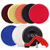 Best Buffing Pads - SPTA 9pcs Polishing Pads Kit, 7 Inches Large Review
