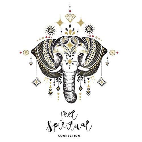 Mandala Elefante Tatuajes De Pared Dormitorio Indian Yoga Vinilo Adhesivo Boho Decor-50X70Cm