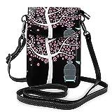 Bokueay Arbre avec impression de cage à oiseaux petit sac à main pour téléphone portable, petit sac à bandoulière Mini sac à bandoulière pour téléphone portable