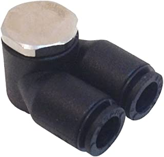 Tube to Pipe Pack of 20 1//4 and 10-32 NPT 1//4 and 10-32 NPT Push-To-Connect and UNF Miniature Right Angle Composite Parker FCMI731-4-0-pk20 Flow Control Regulator