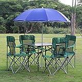 Hh001 Tisch und Stuhl im Freien faltender Satz-Klapptisch-Strand-Klappstuhl-Kombinations-Installationssatz selbstfahrender Picknick-Grill-Klapptisch und Stuhl (Color : B)