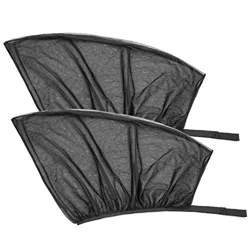 Amaoma 2 Piezas Cortinillas Laterales Coche Parasol Lateral Coche Parasol Coche Bebe Infantil Proteccion contra Rayos UV Universal Parasol de Coche para Bebés Niños Mascotas (Ventana Delantera)