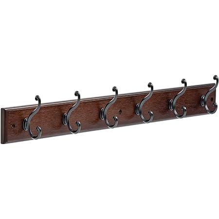 5 Hooks Wall Mounted Coat Rack Heavy Duty Stainless Steel Coat Hook Organizer