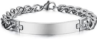 Customized Frienship Jewelry-Set for 1/2/3/4/5 Stainless Steel Link ID Bracelet for Men Women