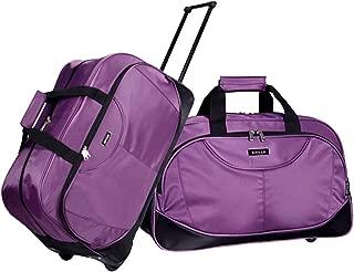 Travel Luggage Tote Set Trip Duffel Bag Luggage Trolley Case Carry-on Suitcase Purple Medium