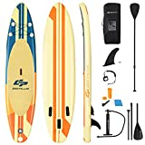 """Goplus Inflatable Stand up Paddle Board, 6"""" Thick SUP with Premium Accessories, Adjustable Aluminum Paddle, Leash, Carry Bag, Hand Pump, Removable Fin"""