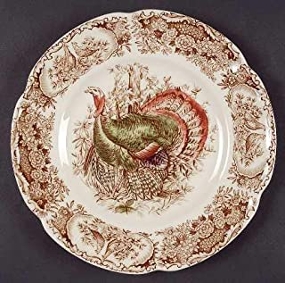 Johnson Brothers Wild Turkeys Brown Native American Salad Plate 8