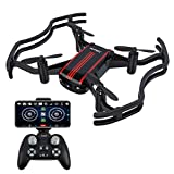 Drones with Camera - AKASO A21 Mini Quadcopter Drone Camera Live Video with 720P HD FPV WiFi RC…