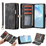 Simicoo OnePlus 8 Leather Wallet Detachable Zipper Case 11 Card...