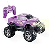 YongnKids Girls Remote Control Truck Car Toy for Kids Toddlers Birthday Christmas 1:24 Scale Big Foot RC Trucks Vehicles (Purple)