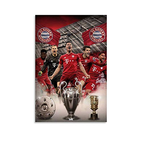 Strand-Wandkunst FC Ba-yern Mu-nich Football (12), moderne Wanddekoration, 50 x 75 cm, Schlafzimmer Leinwand Kunstdruck auf Leinwand