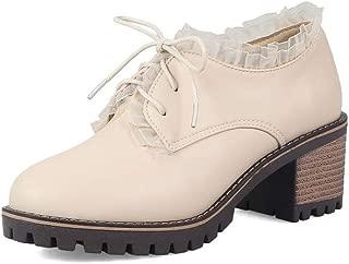 BalaMasa Womens APL12347 Pu Block Heels