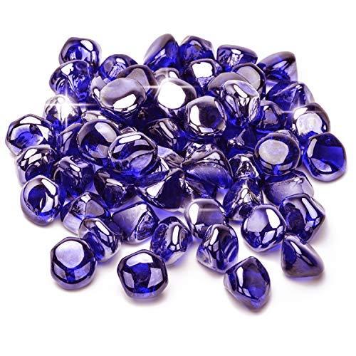 Mr. Fireglass 1,27 cm Feuerglas-Diamanten für Feuerstelle, Kamin, Feuertisch in Kobaltblau – 9 kg