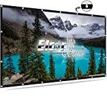 ELCOR lite Series Eyelets/Flexible Foldable Projection Screen 85- Inch Diagonal, 4ft.Height x 6ft.Width