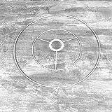 Lealoo - Juego de estructura de 20 a 35 cm de diámetro para suspensión cónica, cabeza redonda de 20 cm de diámetro, anillo desnudo de 35 cm de diámetro, epoxy blanco, para casquillo E27