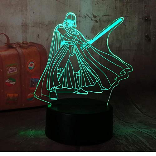 Luz de Noche 3D Anime Ilusión Lámparas de decoración LED 3D Lámpara de Regalo para Luz de Dormitorio Sensor táctil LED Lámpara de EscritorioLámpara decorativa Star Wars Darth Vader