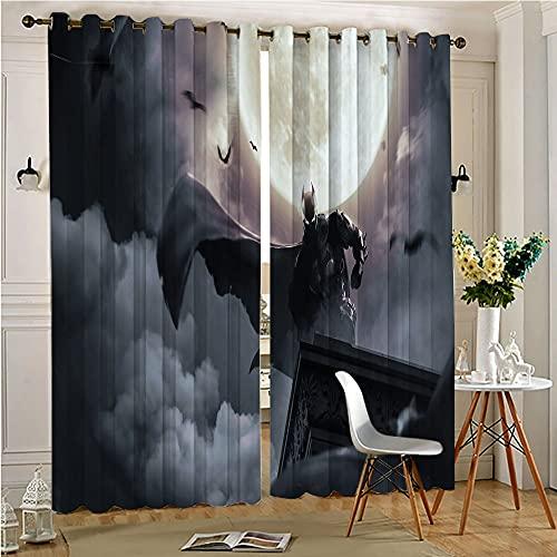 Cortinas perforadas para la cocina The Bat-man By Bosslogic Dark y cortinas aisladas 157,5 x 182,8 cm